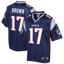 Hombres New England Patriots Antonio Brown NFL Pro Line Navy Big & Tall Jugador Camisetas