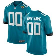 Hombres Jacksonville Jaguars Nike Teal Custom Alternate Juego Camisetas