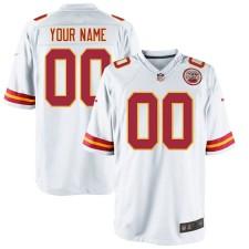 Nike Hombres Kansas City Chiefs Personalizado Juego Blanco Camisetas