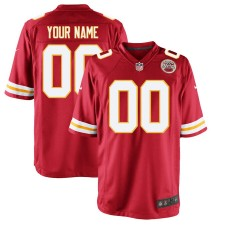 Hombres Kansas City Chiefs Nike Rojo Custom Juego Camisetas
