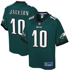 Camiseta de jugador de los Philadelphia Eagles DeSean Jackson NFL Pro Line Midnight Verde para hombre
