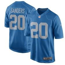 Hombres Detroit Lions Barry Sanders Nike Azul 2017 Throwback Retirado Jugador Juego Camisetas