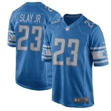 Hombres Detroit Lions Darius Slay Jr Nike Azul 2017 Juego Camisetas