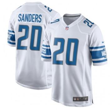 Hombres Detroit Lions Barry Sanders Nike Blanco 2017 Jugador Retirado Juego Camisetas