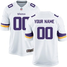Nike Hombres Minnesota Vikings personalizado blanco juego Camisetas