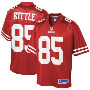 Camiseta de jugador de equipo George Kittle San Francisco 49ers NFL Pro Line - Scarlet