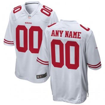 San Francisco 49ers Nike Custom Juego Camisetas - Blanco