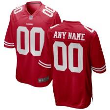 San Francisco 49ers Nike Custom Juego Camisetas - Rojo
