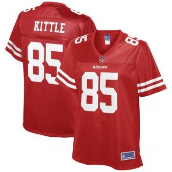 Camiseta de jugador de equipo George Kittle San Francisco 49ers NFL Pro Line para mujer - Scarlet