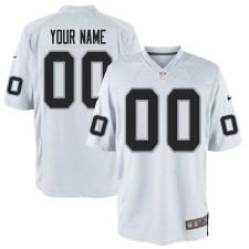 Nike Hombres Oakland Raiders Personalizado Juego Blanco Camisetas