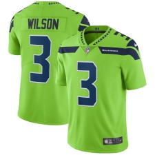 Camiseta Russell Wilson Seattle Seahawks Nike Vapor Untouchable Color Rush Limited Player - Verde neón