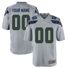 Camisetas de juego alternativo personalizado Seattle Seahawks Nike - Gris