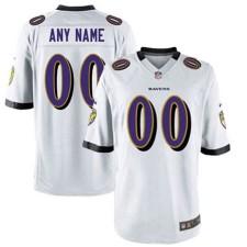 Camisetas de juego blanco personalizado para hombre Nike Baltimore Ravens