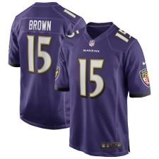 Marquise Brown Baltimore Ravens Nike Juego Camisetas - Púrpura