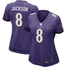 Camisetas Lamar Jackson Baltimore Ravens Nike - Mujer - Púrpura