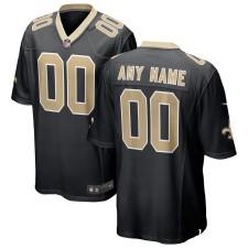 New Orleans Saints Nike Custom Juego Camisetas - Negro