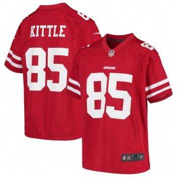 George Kittle San Francisco 49ers Nike Niños Juego Camisetas - Scarlet
