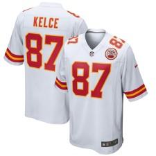 Camisetas de juego blanco Nike Travis Kelce Kansas City Chiefs