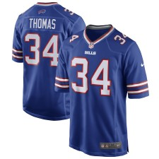Nike Thurman Thomas Buffalo Bills Camisetas de juego de jugador retirado azul real