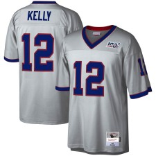 Camisetas Legacy de Mitchell & Ness Jim Kelly Buffalo Bills Platinum NFL 100 jugador retirado