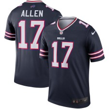 Josh Allen Buffalo Bills Nike Navy Inverted Legend Camisetas