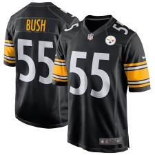 Camisetas de juego Nike Devin Bush Pittsburgh Steelers - Negro