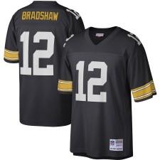 Mitchell & Ness Terry Bradshaw Pittsburgh Steelers Negro Legado Replica Camisetas