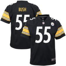 Nike Devin Bush Pittsburgh Steelers Juventud Negro Jugadores Juego Camisetas