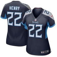 Mujeres Tennessee Titanes Derrick Henry Nike Navy Nuevo 2018 Juego Camisetas