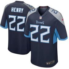 Derrick Henry Tennessee Titans Nike Nuevo 2018 Juego Camisetas - Marina
