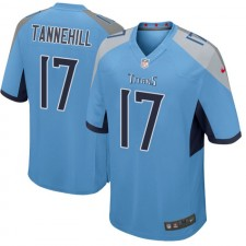 Hombres Tennessee Titanes Ryan Tannehill Light Azul Juego Camisetas por Nike