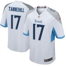 Hombres Tennessee Titanes Ryan Tannehill Blanco Juego Camisetas Por Nike