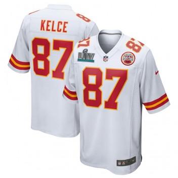 Travis Kelce Kansas City Chiefs Nike Super Bowl LIV Bound Juego Camisetas - Blanco