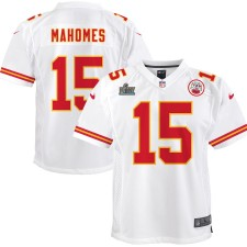 Patrick Mahomes Kansas City Chiefs Nike Youth Super Bowl LIV Bound Juego Camisetas - Blanco