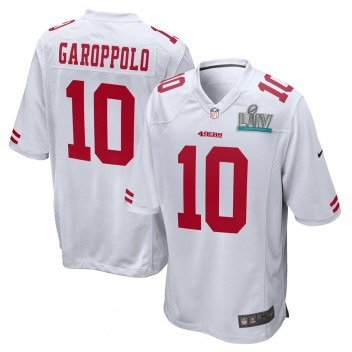 Jimmy Garoppolo San Francisco 49ers Nike Super Bowl LIV Bound Juego Event Camisetas - Blanco