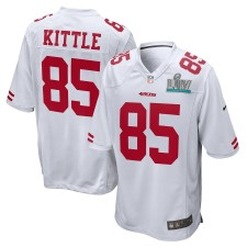 George Kittle San Francisco 49ers Nike Super Bowl LIV Bound Juego Event Camisetas - Blanco