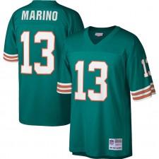 Hombres Miami Dolphins Dan Marino Mitchell & Ness Aqua Legacy Réplica Camisetas