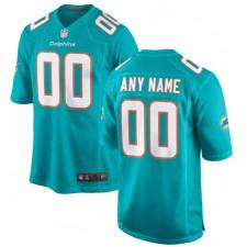 Hombres Miami Dolphins Nike Aqua Custom Juego Camisetas