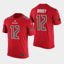 Hombres de Tampa Bay Buccaneers y 12 Tom Brady precipitación del color de la camiseta - rojo