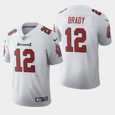 Hombres de Tampa Bay Buccaneers y 12 Tom Brady 2020 Vapor Limited Jersey - Blanco
