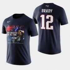 Hombres de los New England Patriots, Tom Brady y 12 CABRA Gracias camiseta - Armada