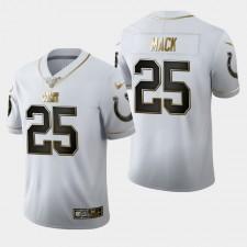 Colts Marlon Mack 100a temporada Golden Edición Camisetas - Blanco