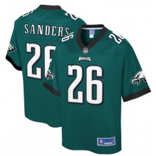 Miles Sanders Philadelphia Eagles NFL Pro Line Player Camisetas - Medianoche Verde