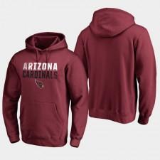Hombres Arizona Cardinals Iconic Fade Out Pullover sudadera con capucha - Cardenal