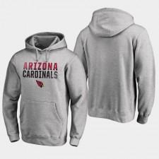 Hombres Arizona Cardinals Iconic Fade Out Pullover sudadera con capucha - Ash