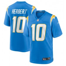Justin Herbert Los Angeles Chargers Camiseta Nike 2020 NFL Draft First Round Pick Camisetas - Azul polvo