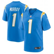Kenneth Murray Los Angeles Chargers Nike 2020 NFL Draft First Round Pick Juego Camisetas - Azul Polvo