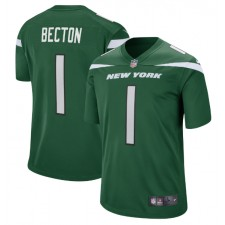 Mekhi Becton New York Jets Nike 2020 NFL Draft First Round Pick Juego Camisetas - Gotham Verde