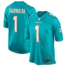 Tua Tagovailoa Miami Dolphins Nike 2020 NFL Draft First Round Pick Juego Maillot - Aqua