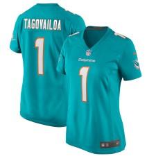 Tua Tagovailoa Miami Dolphins Nike Mujeres 2020 NFL Draft First Round Pick Juego Camisetas – Aqua